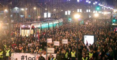 Levica i protesti u Srbiji
